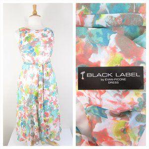 Evan Picone Black Label Plus Size Watercolor Dress